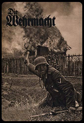 Schatzmix Wehrmacht Soldat im Gras Metallschild 20x30 cm Deko tin Sign Blechschild, Blech, Mehrfarbig