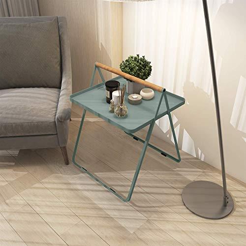 Carl Artbay Home & Selected Furniture / draagbare salontafel, eenvoudig idee voor woonkamertafel, balkontafel, tijdweergave, 45 x 45 x 50 cm (kleur: roze)