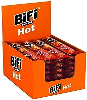 BiFi Hot – Würziger Salami Fleischsnack – Geräucherte & pikante Mini Wurst als Snack to go – 40er Box 40 x 22,5 g
