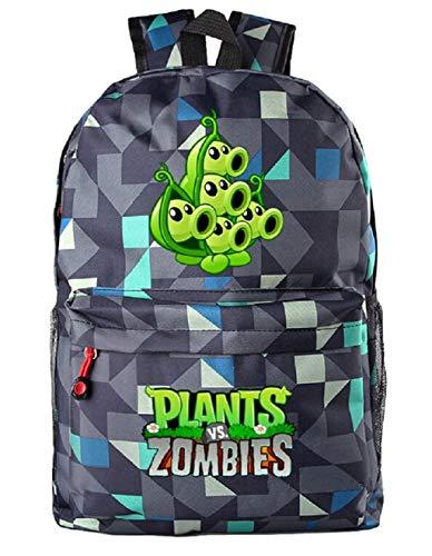 AUGYUESS - Mochila Escolar para Juegos de Plantas y Zombis Azul Blue 11 XL