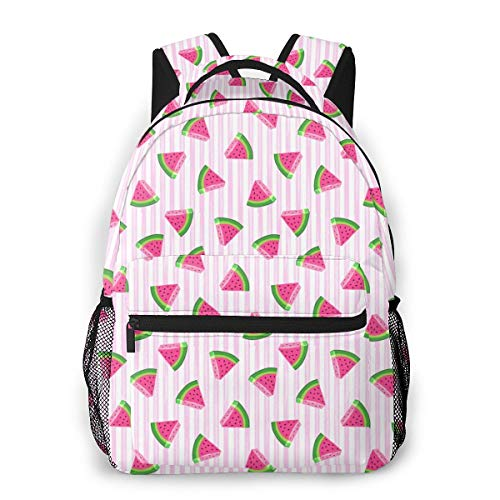Qucoost Laptop Schoolbag Casual Lightweight Travel Sports Backpack Unisex(Watermelons)