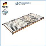 RAVENSBERGER MEDIMED 44-Leisten 7-Zonen-BUCHE-Lattenrahmen | Starr | Made IN Germany - 10 Jahre GARANTIE | TÜV/GS + Blauer Engel - Zertifiziert | 90 x 200 cm