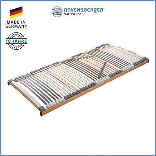 RAVENSBERGER MEDIMED® 44-Leisten 7-Zonen-BUCHE-Lattenrahmen | Starr | Made IN Germany - 10 Jahre GARANTIE | TÜV/GS + Blauer Engel - Zertifiziert | 90 x 200 cm