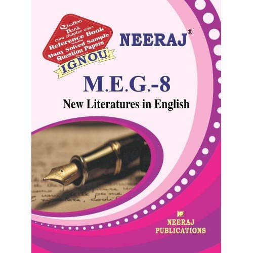 MEG-8 New Literatures in English-Guide & Question Bank by Expert panel of neeraj Publications-2018 edition