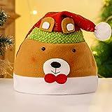 YZZR 2pcs Sombreros de Papá Noel Gorros de Navidad Gorros de Navidad para Hombres y Mujeres/niños Decoraciones navideñas en Varios tamaños,con Estampados,etc.