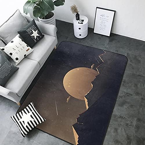 Cielo Nocturno, Marrón Alfombra de Salón de Pelo Corto de Diseño 3D 160 X 230 cm Alfombra de...