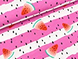 Swafing Baumwolljersey Jonne Melonen auf pink-weiß