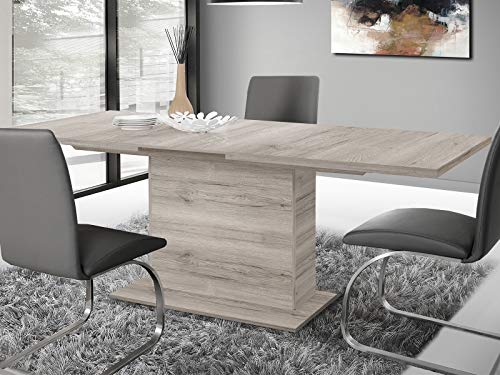 möbelando Esszimmertisch Küchentisch Esstisch Auszugstisch Holztisch Tisch Marrissa I Sandeiche