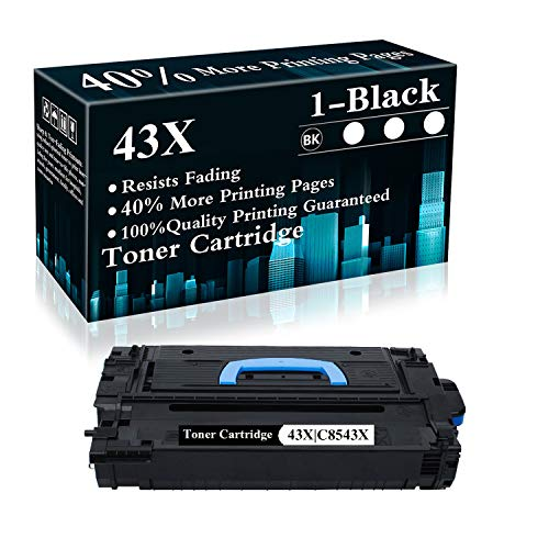 1 Pack 43X | C8543X Black Toner Cartridge Replacement for HP Laserjet 9040 9040dn 9050 9050n 9000N 9000dn 9040 9000 9050 9040/9050 M9040/M9050 Printer,Sold by TopInk