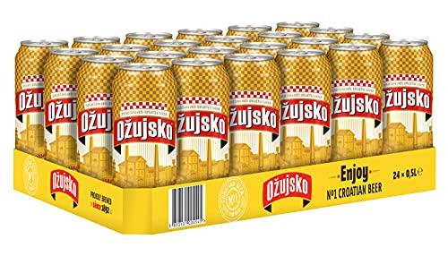 Ožujsko Pivo (24 x 0,5l) Dose - EINWEG - inkl. 6 Euro DPG Pfand - Das beliebteste Bier aus Kroatien
