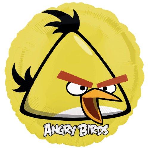 Generique - Ballon Aluminium Rond Jaune Angry Birds