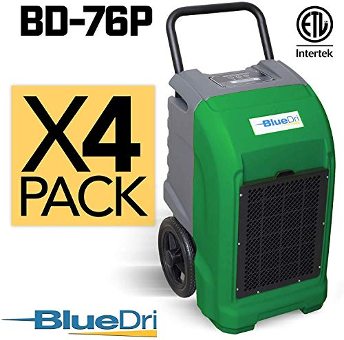 Best Price BlueDri BD-76 Water Damage Equipment Industrial Commercial Grade Large Dehumidifier for H...