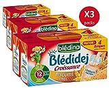 Blédina Blédidej 12 briques Croissance Céréales Lactées Biscuité Miel dès 12...