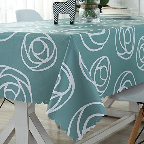 HM&DX PVC Kunststoff Tischdecken Wasserdicht Ölfreie Anti-heiß Schmutzabweisend Tischtuch schutzfolie Folie Esszimmer couchtisch Tuch abdecken-A 135x200cm(53x79inch)