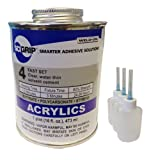 Weld-On 4 Acrylic Adhesive - Pint and 3 Pack of Weld-On Applicator Bottle with Needle
