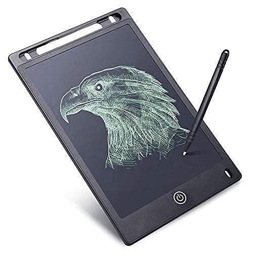 PGOR Toys Electronic LCD Writing Tablet for Kids Writing and Learning Pad Board 8.5 Inch New Gadgets Gift for Kids with Free Wooden Top (Multi Colour)