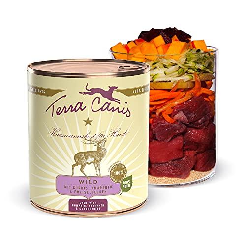 Terra Canis Selvaggina, zucca & mirtillo rosso - Alimento umido Classic, 800g I Alimento premium per cani con ingredienti di autentica qualità human-grade al 100% I ipoallergenico & gluten-free