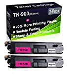 Confezione da 2 cartucce toner compatibili con stampanti laser HL-L9200 HL-L9300 (alta capacità) per Brother TN-900 (TN-900M)