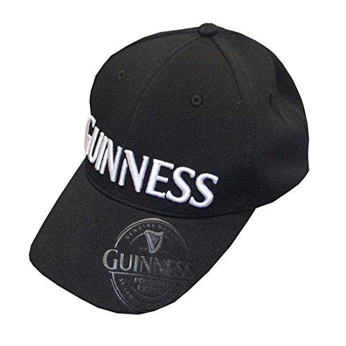 Casquette de baseball Guinness avec étiquette en relief noire Foreign Extra et logo Guinness blanc