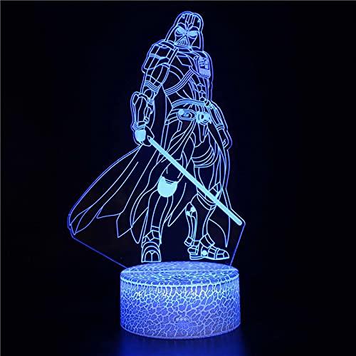 3D Illusion - Lámpara de noche LED de la serie Star El ascenso de Skywalker Lámpara de escritorio Milenario Falcon Model Lámparas Regalo 7colorstouch D