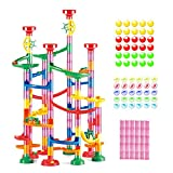 WEofferwhatYOUwant Marble Run Roll - Educational Construction Maze Block. Big Circle and Double Back Pieces for More Hang Time - 169 Pieces. Ages 3 Years and up.