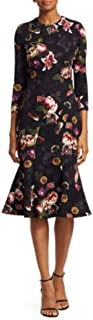 Couture Women's 3/4 Sleeve Floral Cocktail Dress