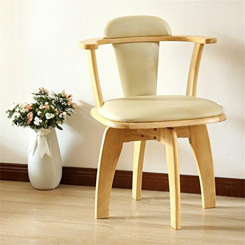 Dongy Silla de Comedor de Madera Maciza, Moderna, Minimalista, para el hogar, Silla de computadora multifunción, sillón de Madera Maciza (Color : D)
