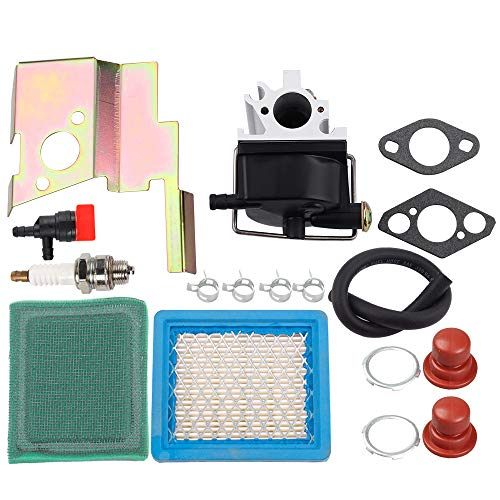 Dalom 640020 632671 Carburetor + 36046 36634 Air Pre Filter + Shut Off Valve Tune Up Kit for Tecumseh VLV40 VLV50 VLV55 VLV60 VLV65 VLV66 VLV126 VLXL50 VLXL55 4 Cycle Engine Toro Craftsman Lawn Mower