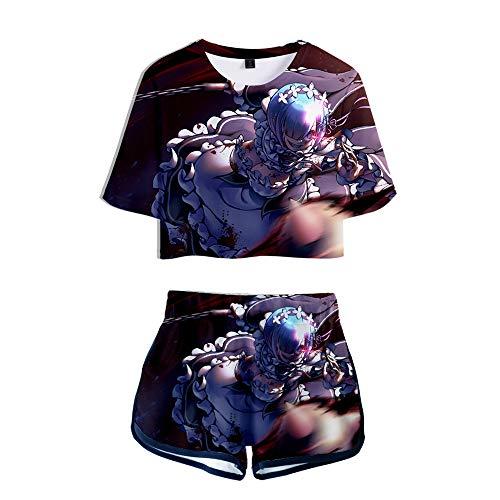 Preisvergleich Produktbild WOONN Shorts und Kurze Ärmel,  vom Beginn Einer Anderen Welt Anime Shorts passen zu Sport,  Freizeit,  Pyjama