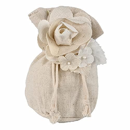 STEFANAZZI Juego completo de 20 bomboneras de algodón para bodas, cumpleaños, nacimientos, confirmaciones, comuniones, etc.