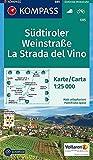 KOMPASS Wanderkarte Südtiroler Weinstraße, La Strada del Vino: Wanderkarte mit Radrouten. GPS-genau. Dt. /Ital. 1:25000 (KOMPASS-Wanderkarten, Band 685)