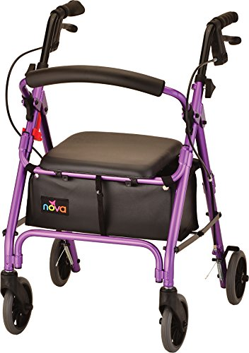NOVA GetGo Petite Rollator Walker (Petite & Narrow Size), Rolling Walker for Height 4'10