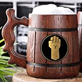 Monk Beer Mug. Dungeons & Dragons Wooden Beer Mug. D&D Wooden Tankard. Personalized Gift For Him. Custom Beer Stein. DnD Gamer Gift. Gift For Husband, Boyfriend Gift #329/0.6L/22 ounces