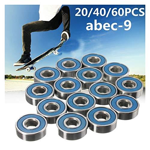 Patineta de rodamientos 20pcs ABEC-9 608 2RS Inline rodamiento de rodillos del...