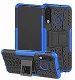 Yiakeng für Huawei P30 Lite Hülle P30 Lite New Edition Handyhülle, Doppelschicht Stoßfest Schlank Ganzkörperschutz Mit Ständer für Huawei P30 Lite 2020 (Blau)