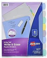 Avery Big Tab Write & Erase Durable Plastic Dividers 8 Multicolor Tabs 1 Set (16171) 【Creative Arts】 [並行輸入品]