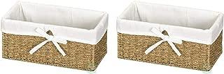 Vintiquewise QI003084.2 Shelf Basket, Pack of 2, Natural