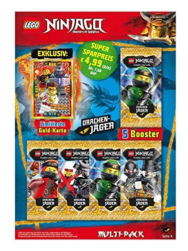 Top Media 180323 - Lego Ninjago Serie IV, Multipack, 5 Booster und limitierte Goldkarte