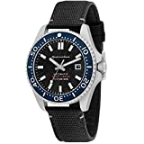 SPINNAKER Men's Tesei 43mm Black Leather Band Titanium Case Sapphire Crystal Automatic Watch SP-5061-01