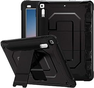 MoKo Case Fit 2018/2017 iPad 9.7 6th/5th Generation, Heavy Duty Shockproof Full Body Rugged Hybrid Cover 3-Layer Multi-fun...