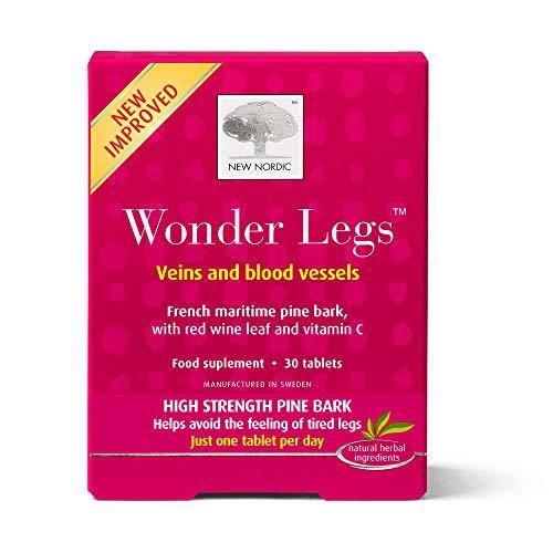 New Nordic Wonder Legs, High Strength Pine Bark for Tired Legs, 30 Tablets Pack of 1