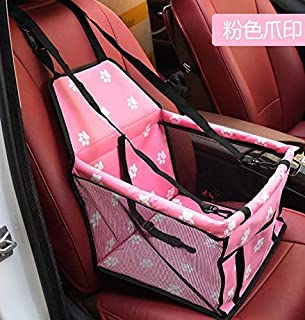 Folding Waterproof Pet Dog Car Seat Padded Dog Travel Carrier Bag with Adjustable Straps and Double Safety Clasp 15.7 x 11.8 x 9.8 inch Black Cocoarm Dog Booster Car Seat