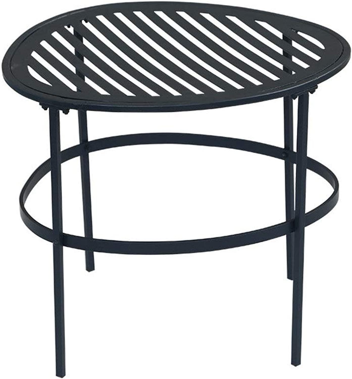 Coffee Table Living Room Balcony Home Modern Black Small Wire Side Table Metal Coffee End Side Table Easy Assembly Multi-use Decor Indoor Modern Furniture Decor (Size   44  36  40cm)