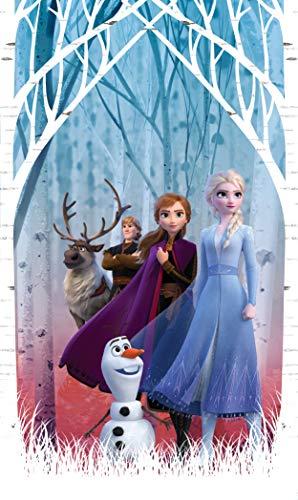 AG Design ELSA mit Freunden im Herbstwald, Frozen 2, Disney, Vorhänge für Kinderzimmer, 1 Teil, Mehrfarbig, 140 x 245 cm