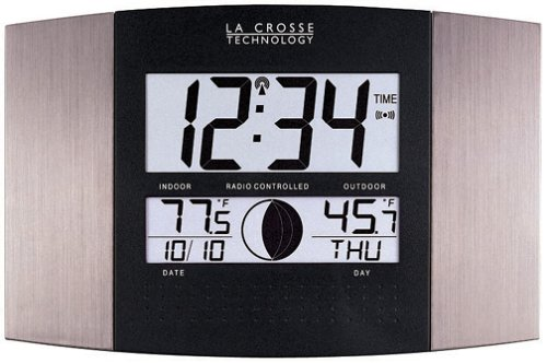 La Crosse Technology WS-8117U-IT-AL Atomic Wall Clock with...