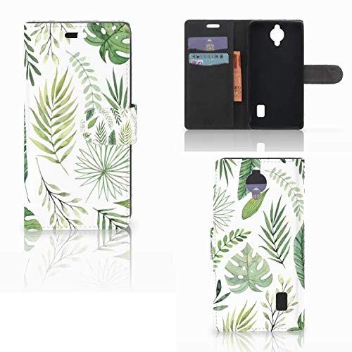 Flip Hülle Deluxe Schutz Hülle Magnetischem für Huawei Y635 Hülle Blätter