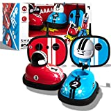 Sharper Image Road Rage RC Speed Bumper Cars, Mini Remote Controlled Ejector Vehicles, 2 Player Head to Head Battle, Crash into Opponents, 2.4 GHz, Red and Blue, Ages 6 and Up