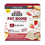 A creamy SlimFast Keto Fat Bomb creation exploding with rich and rewarding cheesecake flavor topped with strawberry sweetness sure to satisfy your cravings Each Keto Fat Bomb Mini Bar is packed with 6 grams of mighty Keto-friendly fats to maintain yo...