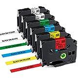 Nastro Markurlife Compatibile In sostituzione di Brother TZe TZ Tape 12mm 0,47 Laminated TZe-231 TZe-131 TZe-431 TZe-531 TZe-631 TZe-731 per Etichettatrice Brother P-Touch 1000 PT-H107B H105 Cube