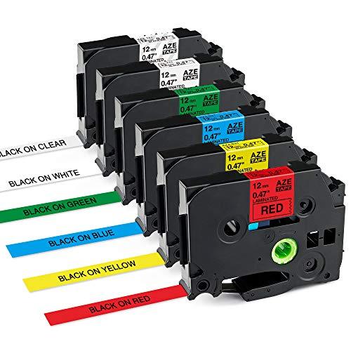 Markurlife kompatible Etikettenband als Ersatz für Brother P-Touch TZe 12mm 0,47 Zoll TZ-231 TZ-131 TZ-431 TZ-531 TZ-631 TZ-731 für P-Touch Etikettendrucker PT-1000, PT-D400, PT- H110, PT-H105